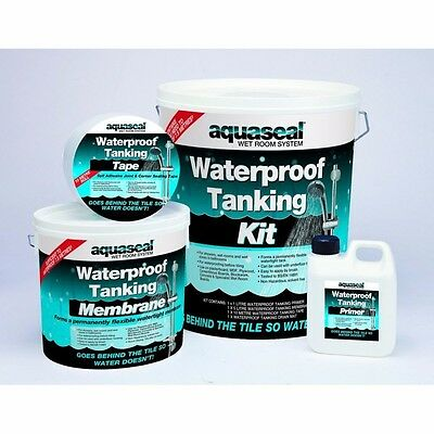Everbuild Aquaseal Tanking Kit Standard 4.5 M2 Wet/shower/bath Room Waterproof