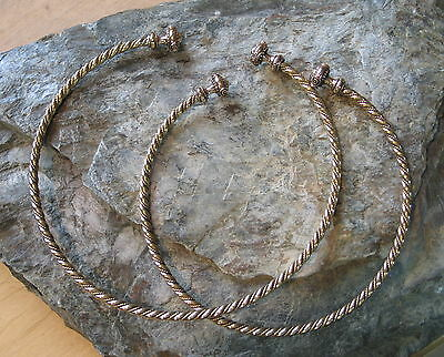 Torc Torque BRONZE choker necklace collar viking celtic  La Tene culture Replica