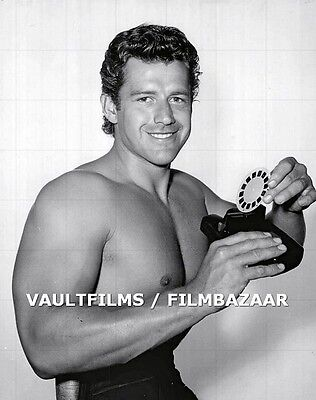 "GORDON SCOTT - TARZAN - BEEFCAKE - 10"" x 8"" b/w Portrait Photo early 50's #739"