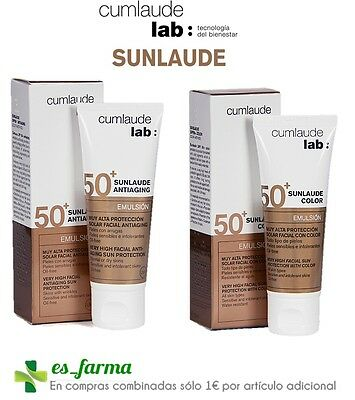 Cumlaude Sunlaude Emulsion Spf50 50Ml Antiaging Acido Hialuronico Color Oil Free