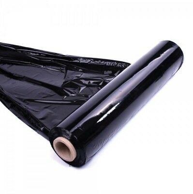 1 Big Roll Black Pallet Stretch Shrink Wrap Cast Cling Film Parcel Packing