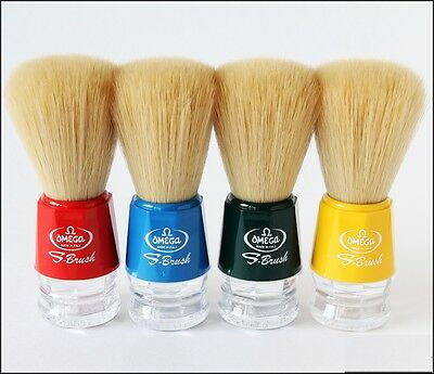 Omega S-Brush Model S10018 100% Synthetic Blue, Green, Red or Yellow