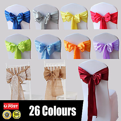 Satin Chair Sashes Cloth Cover Wedding Party Event home Decoration Table Runner