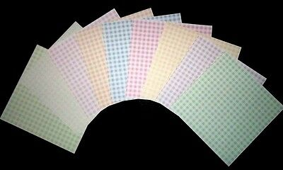 "Pastel CHECKS Scrapbooking Papers  **15cm x 15cm** (6"" X 6"")"