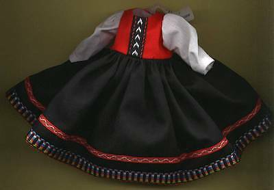 "Madame Alexander 8"" Doll Black and Red Dress"