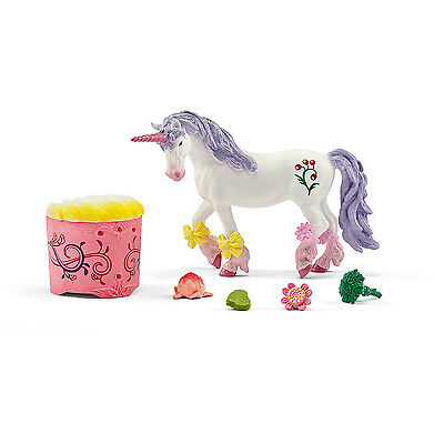Schleich 42173 Unicorn and Pegasus Care and Feed Set for Bayala Figurines -NIB