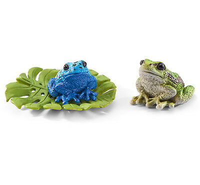 Schleich 42254 Frogs with Lilypad Set Toy Animal Model Gift Figurine - NIP