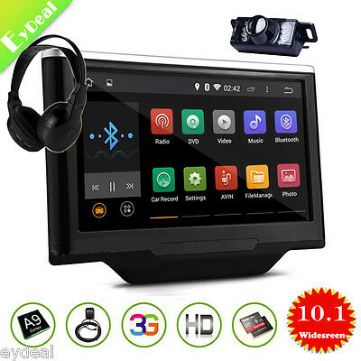 """10.1"""" Car Headrest Android 4.4 Capacitive HD DVD Video Player GPS WIFI+Camera"""