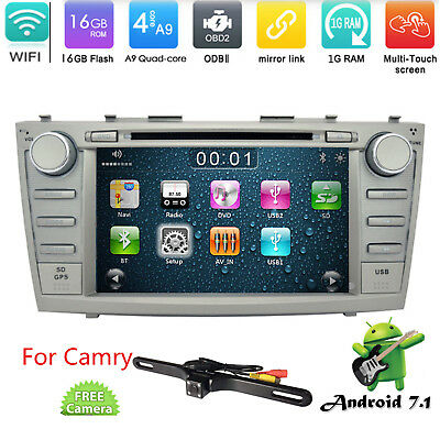 """8"""" Touchscreen Android 6.0 GPS Car DVD Player For TOYOTA Camry 2008~2011+Camera"""