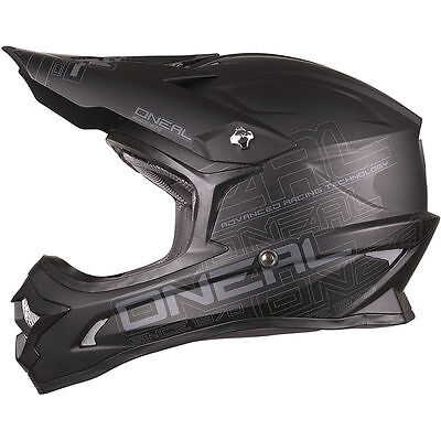 NEW ONEAL MX 2018 3 Series MATTE BLACK Dirt Bike Adult Motocross Helmet