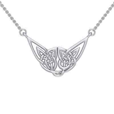 Celtic Knotwork .925 Sterling Silver Necklace by Peter Stone Jewelry
