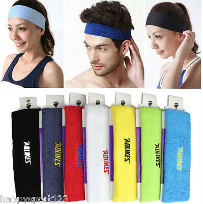 Headband Sweatbands Cotton Sweat Head Hair Band for Sport Yoga Tennis Badminton