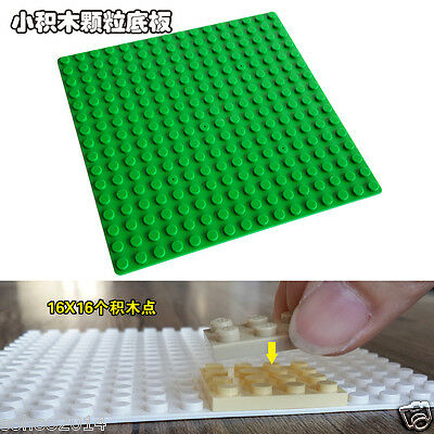 3pcs Green Color for Lego Compatible 5'' x 5'' Brick Base plate board 16x16 pins