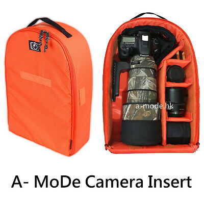Camera Insert Partition Padded Bag Case for DSLR SLR Lens Large Backpack case