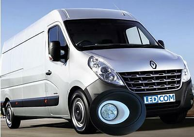 LED Day Running Lights Kit DRL Renault Master, Nissan Interstar 2010 on to paint