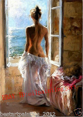 Handcraft Modern ABSTRACT Oil Painting on Canvas Nude Girl IV (No Frame)