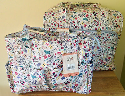 SEWING MACHINE CARRY CASE & CRAFT BAG 'Spring time' Design STURDY QUALITY VINYL