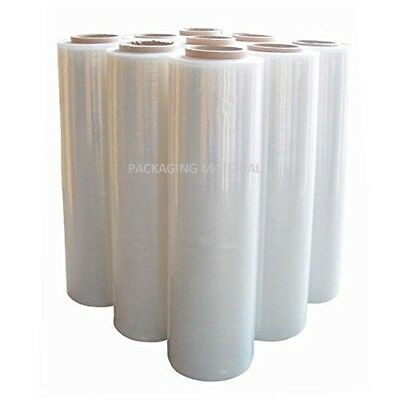 2 Rolls Clear Pallet Stretch-Shrink Wrap Parcel-Packing Cling Film 400Mm X 250M