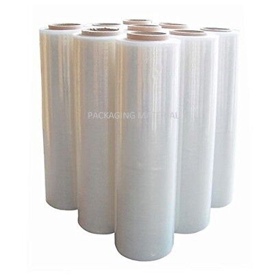2 Rolls Strong Clear Pallet Stretch-Shrink Wrap Parcel-Packing Cling Film