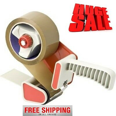 Cheapest Parcel Packaging Tape-Dispenser-Gun+6Rolls Of Brown-Strong Packing Tape
