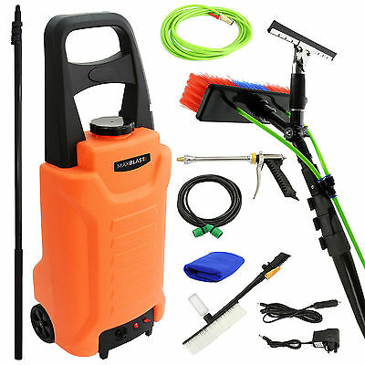 30ft Telescopic Water Fed Cleaning Pole + 30L Water Tank Window Cleaning Trolley