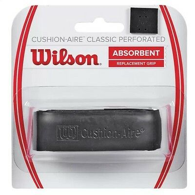 Wilson Cushion-Aire Classic Perforated Replacement Grip Absorbent Black Rrp £10