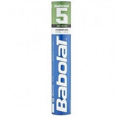 BABOLAT No 5 SPEED 78 BADMINTON FEATHER SHUTTLECOCKS - ONE DOZEN TUBE - RRP £20