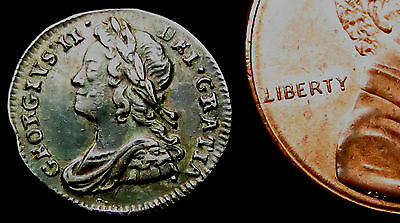 R113: 1739 George I Silver Maundy Penny.  Toned.
