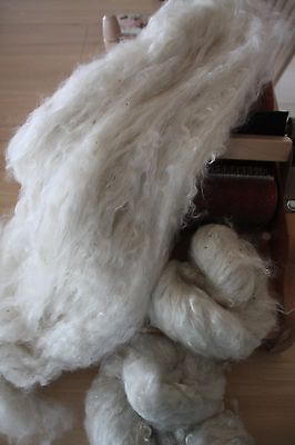 Mohair...CARDED WASHED..White...From Premium Kids Hair