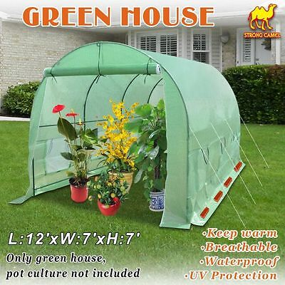 12'X7'X7' Green House Larger Walk In Outdoor Plant Gardening Greenhouse