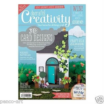 Docrafts creativity magazine February 2016 no. 67 +free A5 paper notelets & tape