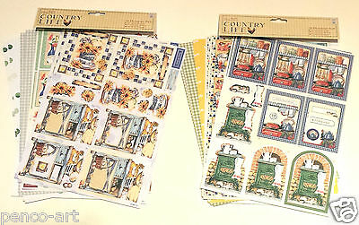 Papermania Country Life kitchen or garden decoupage packs bee hive love home cat
