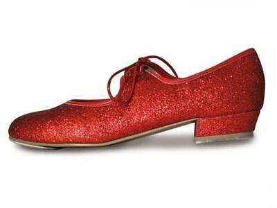 Red Glitter Childs Tap Shoes by Roch Valley