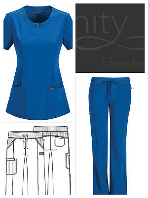 Cherokee Infinity Antimicrobial Protection Women Pants or Top Royal Blue XXS-2XL