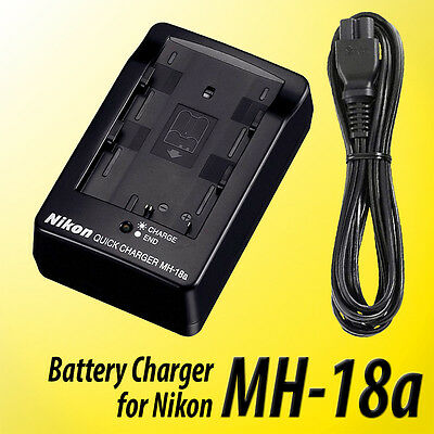 MH-18a NEW Battery Charger for Nikon  D50 D70 D80 D90 D100 D200 D300s D700 USA