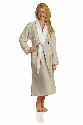 Monarch Terry Lined Robe - Unisex Natural Colour XL