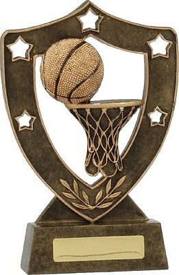 Basketball Theme Shield Trophy 130mm Engraved FREE