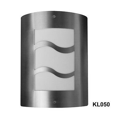 2pcs x Modern stainless steel outdoor wall light Garage Door External path Light