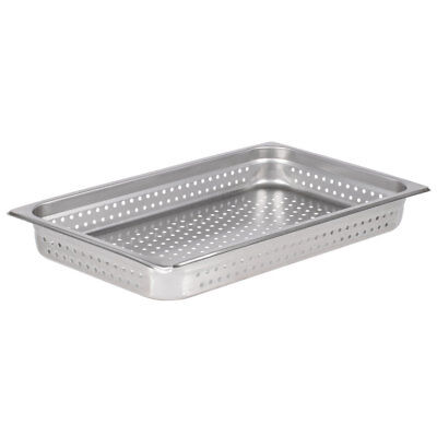 """Full Size Perforated Stainless Steel Steam Table / Hotel Pan - 2 1/2"""" Deep"""