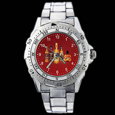 Captain Morgan Rum Private Stock 100 Proof Stainless Steel Wristwatch Watch 12