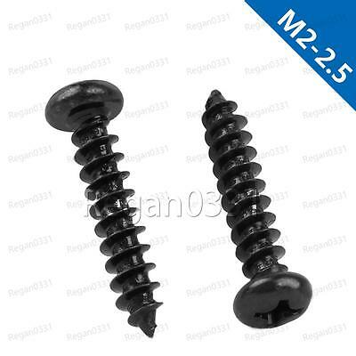 M2/M2.5 Black Oxide Self Tapping Phillips Pan Head Electronic Micro Screws