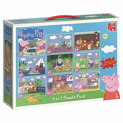 Peppa Pig 9 in 1 Jigsaw Puzzle Pack NEW