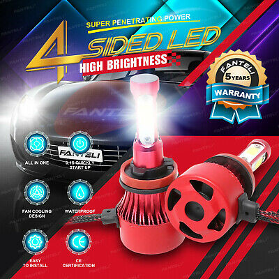 H11 LED Headlight 6000K 2018 1800W 270000LM 4-Side Kit Low Beam Bulbs High Power