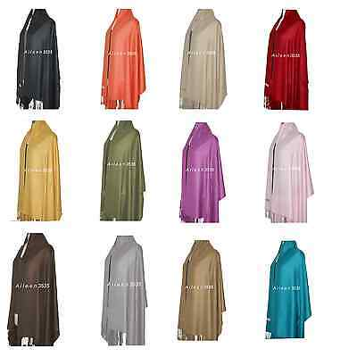 Stunning Solid 2-Ply Pashmina Shawl/Wrap/scarf