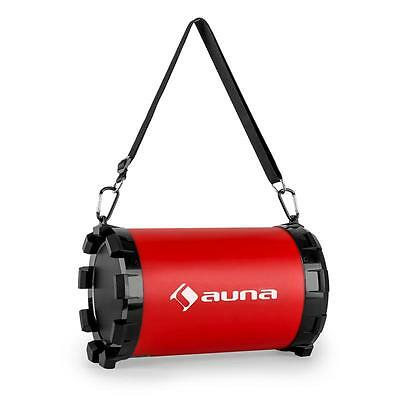 Bluetooth System 2.1 Wireless Portable Speaker Usb Sd Am Fm Carry Strap - Red