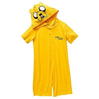KIDS ADVENTURE TIME JAKE ONESIE SLEEPSUIT PYJAMAS - UNISEX - 4 sizes
