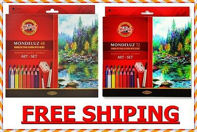 Mondeluz koh-i-noor coloured pencils 72 colours 48 colours 3713, 3714 2 wariatio