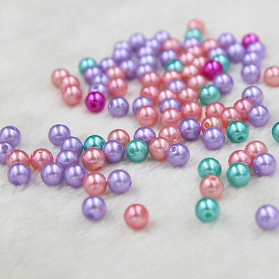 Wholesale 100 Pcs Bulk Lots Plastic Faux Pearl Loose Bead 7mm 9mm Multi Function