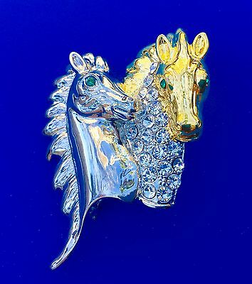 Horse Fashion Jewelry Swarovski crystal pin brooch #horse Horse from USA