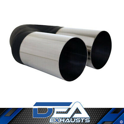 Dea Stainless Steel- Twin Straight Cut Exhaust Tip 2.5'' Inlet